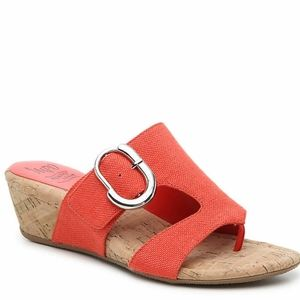 NEW Impo Gisselle coral wedge sandals Sz 7…